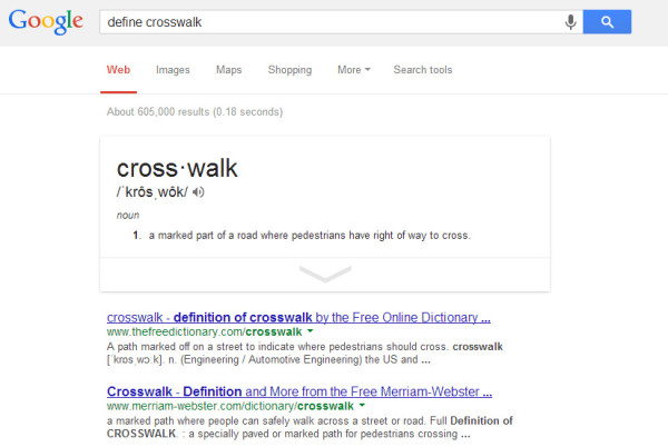 None of these things is what a crosswalk is.