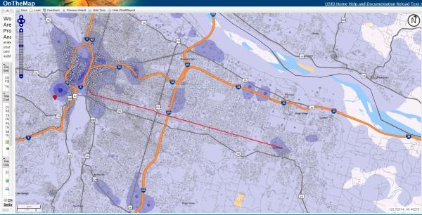 East Portland Metro Jobs (image credit: OnTheMap / US Census)