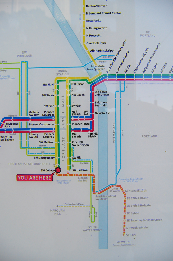 New Trimet Rail Map  Portland Transport